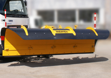 City and highway snow plow LSP has a unic spring mechanism and blade holders with adjustable angle.