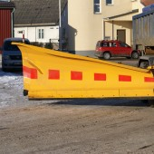 The truck-mounted snow plow KSM by Meiren with a new concept