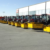 Snow removal equipment for Valtra tractors by Meiren Snow