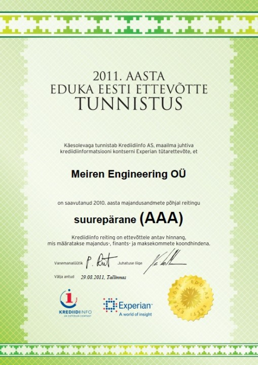 AAA_cert_Meiren_Engineering_EST