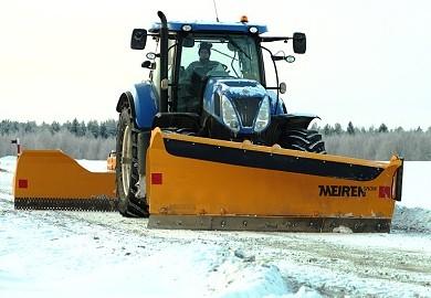 Schneepflug TSK und Planierschild für Traktor
