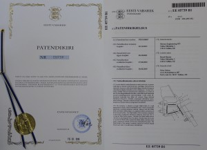 Patent EE05739 B1 for blade holder of a snow plough