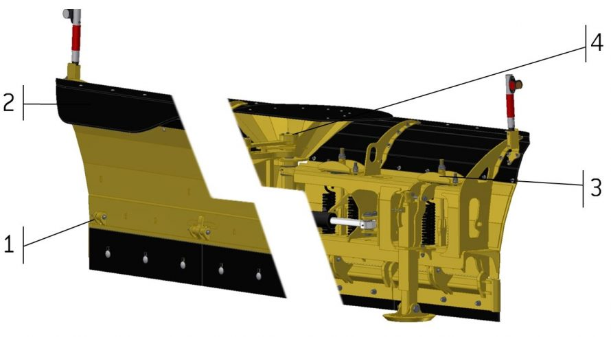 Advantages of VTSP-03 snow plow