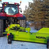 TRN rear snow plow with sideshift function.